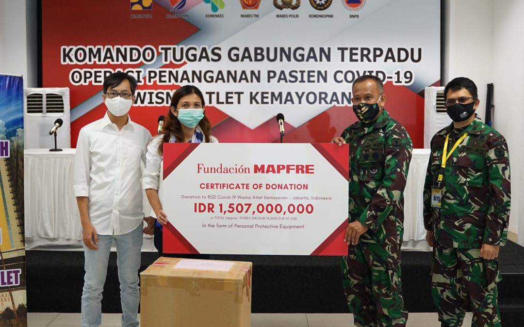 Fundación MAPFRE Donates IDR 1,507 Billion to RSD Covid-19 Wisma Atlet Kemayoran for Coronavirus Relief In Indonesia